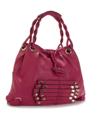 Hype Handbag, Rebecca Double Handle Hobo - Leather Hobo Bag