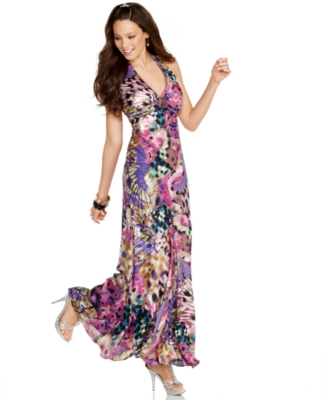 Jump Prom Dress, Butterfly Print Floor Length Gown
