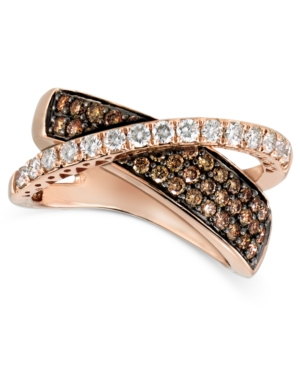 Le Vian Diamond 14k Rose Gold Chocolate Diamond Crossover (1-1/8 ct. t.w.)