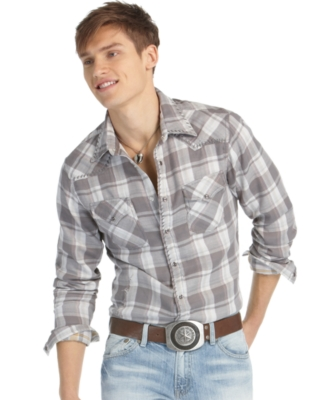 GUESS Shirt, Village Sidewinder Plaid