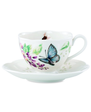 Lenox Dinnerware, Butterfly Meadow Butterfly Cup and Saucer Set