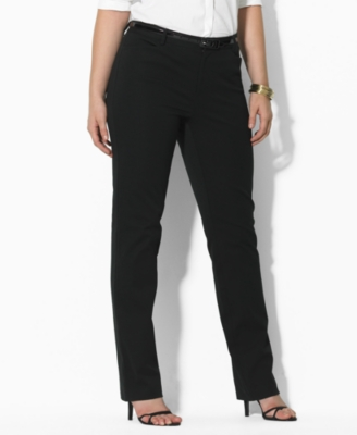 Lauren by Ralph Lauren Plus Size Pants, Caitlin Stretch Twill