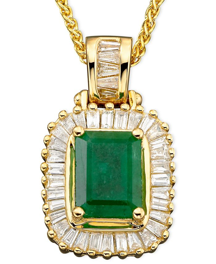 EFFY Collection - Emerald (1-3/8 ct. t.w.) and Diamond (1/2 ct. t.w.) in 14k Gold
