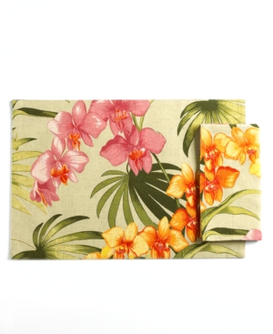 Tommy Bahama Table Linens, Set of 4 African Orchid Napkins