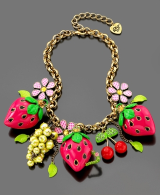 Betsey Johnson Necklace, Fruit - Statement Necklace
