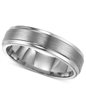 Men's Tungsten Ring, 6 mm Band (Size 8-15)