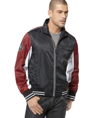 Marc Ecko Cut & Sew Jacket, Block and Tackle Track Jacket