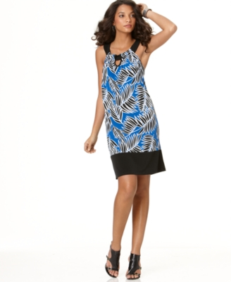 Elementz Dress, Sleeveless Printed