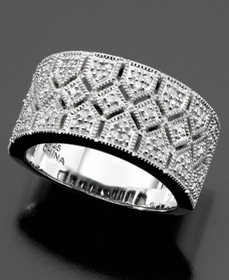 Sterling Silver Ring, Diamond (1/4 ct. t.w.) - Decorative Rings