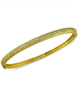 14k Gold Bracelet, Pave Diamond Bangle (1-1/5 ct. t.w.)