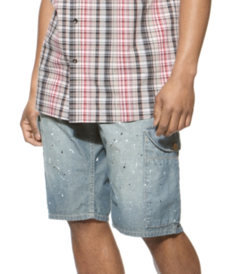 Sean John Shorts, Chambray Cargos - Jeans