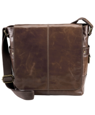 Fossil Bag, Jackson North/South Leather Messenger