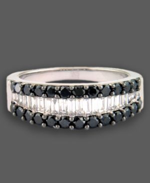 14k White Gold Ring, Black and White Diamond (1-1/5 ct. t.w.)