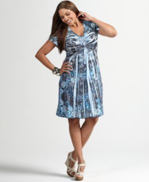 Style&co. Plus Size Dress, Flutter Sleeve Floral Sublimation Print