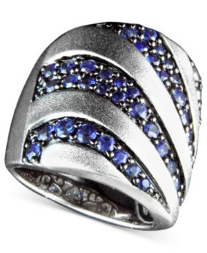 Effy Collection Sterling Silver Ring, Sapphire Stripe (2-1/3 ct. t.w.)