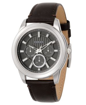 Leather Band Quartz Watch - Fossil