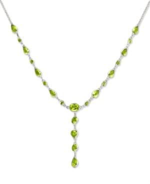 14k White Gold Necklace, Peridot (7-3/4 ct. t.w.)