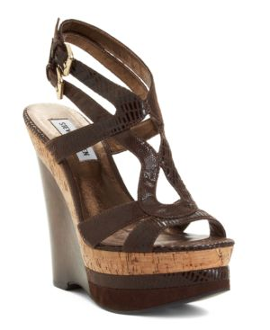Steve Madden Shoes, Ultran Wedge Sandals Women's Shoes