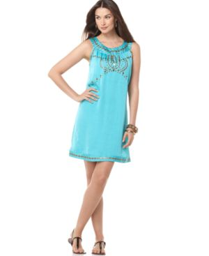 Alfani Dress, Sleeveless Studded