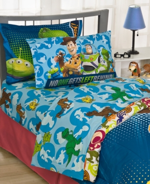 Disney Pixar Bedding, Disney Toy Story 200 Thread Count Twin Sheet Set Bedding