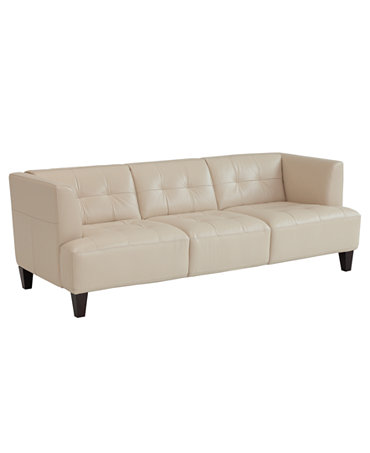 Alessia Leather Sofa Furniture Macy 39 S