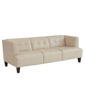 Alessia Leather Sofa 83W x 37D x 28H