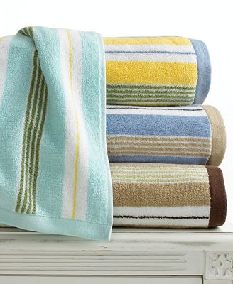 Martha Stewart Collection Bath Towels Low Twist Stripe Collection Bath Towels Bed Bath