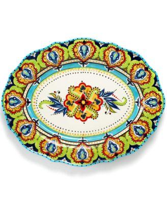 Espana Bocca Scalloped Oval Platter