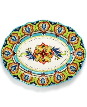 Tabletops Unlimited Dinnerware, Bocca Scalloped Oval Platter