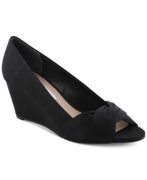 Nina Edelia Peep-Toe Evening Wedges Women's Shoes