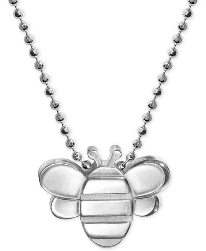 Alex Woo - Bumble Bee Pendant Necklace in Sterling Silver
