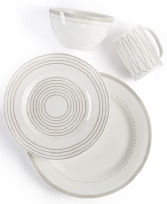 Charlotte Street West Grey Collection 4-Piece Place Setting