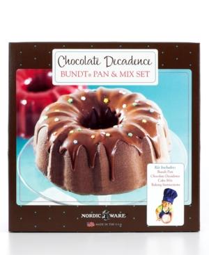 Nordicware Bundt Pan and Mix Set, Chocolate Decadence