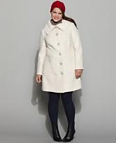 Alfani Plus Size Coat, Textured Single Breasted