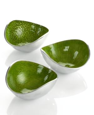 Simply Designz Serveware, Set of 3 Lemongrass Nut Bowls