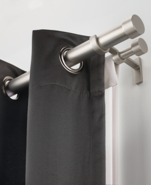 "umbra window hardware, cappa 28-48"" double rod bedding"