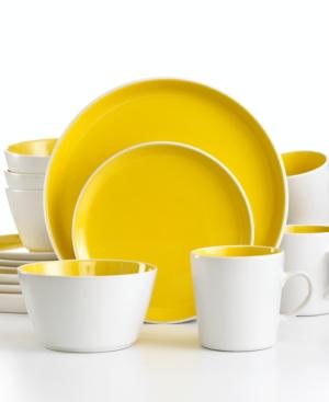 Oneida Dinnerware, Lemon Color Burst 16 Piece Set