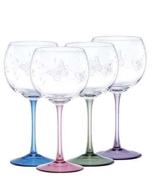 Lenox Stemware, Butterfly Meadow Balloon Glasses, Set of 4