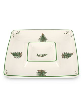 Spode Serveware, Christmas Tree Chip and Dip