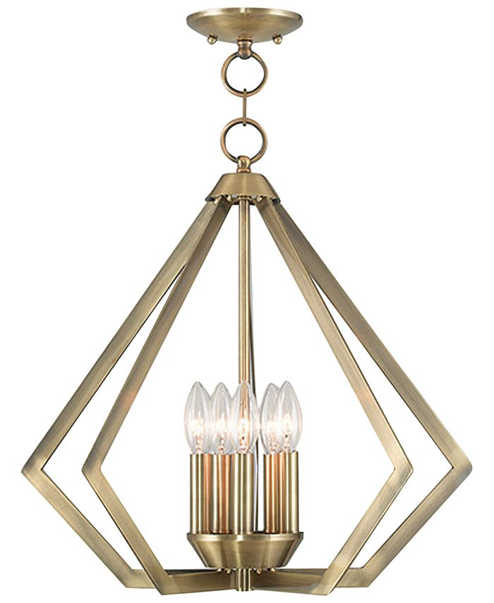 Livex - Prism 5- Light Metal Pendant