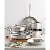 Deals on All-Clad D5 Brushed Stainless Steel 10-Pc. Cookware bloomSet