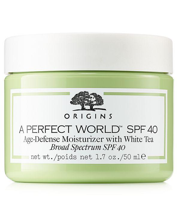 Origins A Perfect World SPF 40 Age-Defense Moisturizer with White Tea, 1.7-oz.