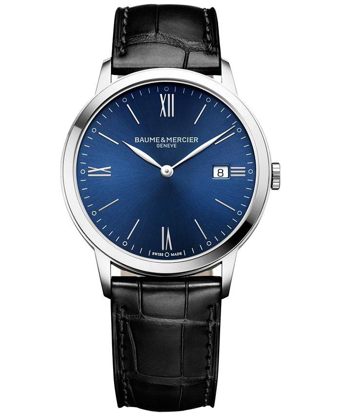 Baume & Mercier - Men's Swiss Classima Black Leather Strap Watch 40mm M0A10324
