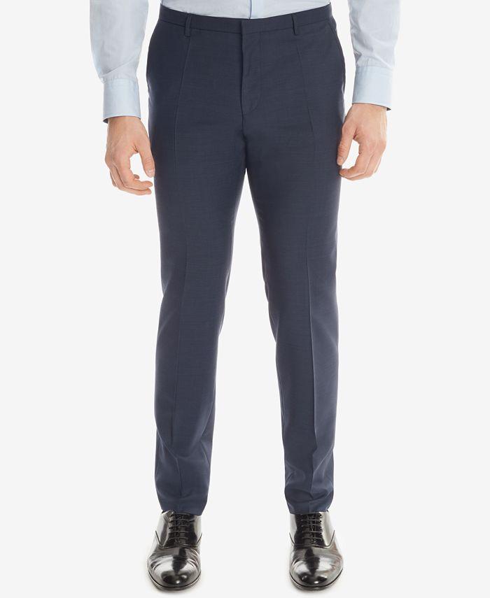 Hugo Boss - Men's Extra-Slim-Fit Wool Dress Pants