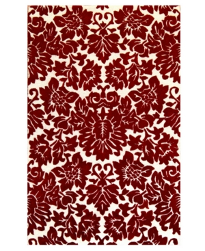 St. Croix Area Rug, Structure CT66 Red / Beige 8' Round