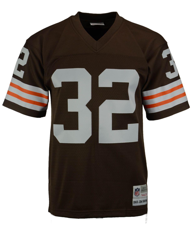 Mitchell & Ness Men's Jim Brown Cleveland Browns Replica Throwback Jersey  & Reviews - Sports Fan Shop By Lids - Men - Macy's