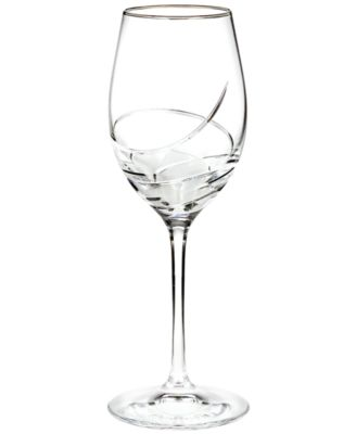 Waterford Stemware, Ballet Ribbon Essence Platinum Wine Glass