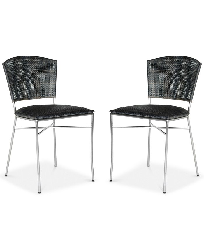 Safavieh - Honner Set of 2 Dining Chairs, Quick Ship