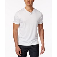 Deals on Alfani Mens Soft Touch Stretch Henley