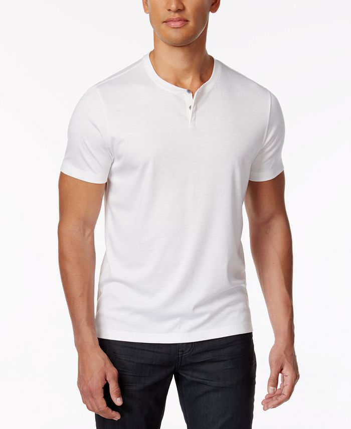 Alfani - Men's Covered Placket Henley